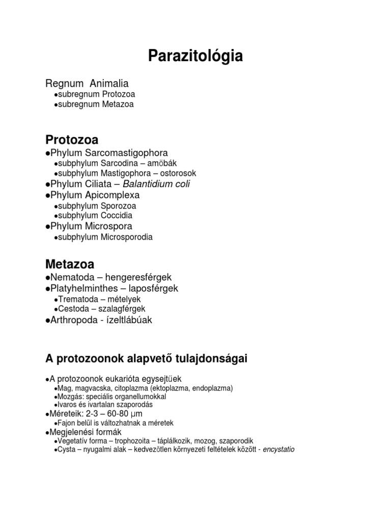 petesejt-ciszták és paraziták