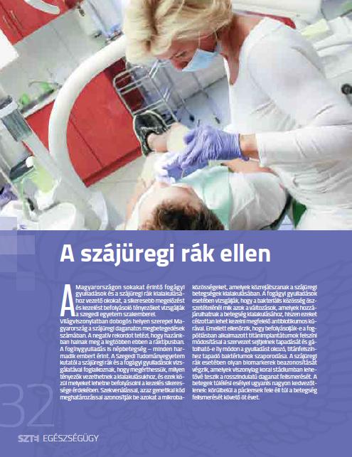 szájüregi rák tudományos cikkei